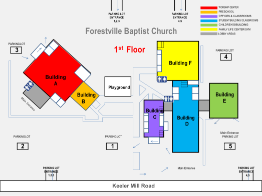 FBC 1st Floor Map