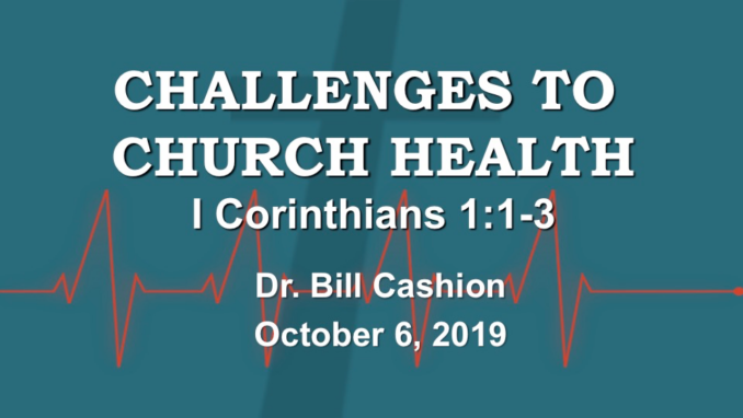 Challenges to Church Health